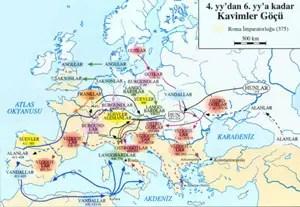 </p><p>4 ve 6. yüzyıla kadar Kavimler Göçü