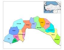 District Antalya Turkey Map