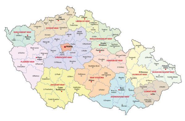 Map Czech Republic
