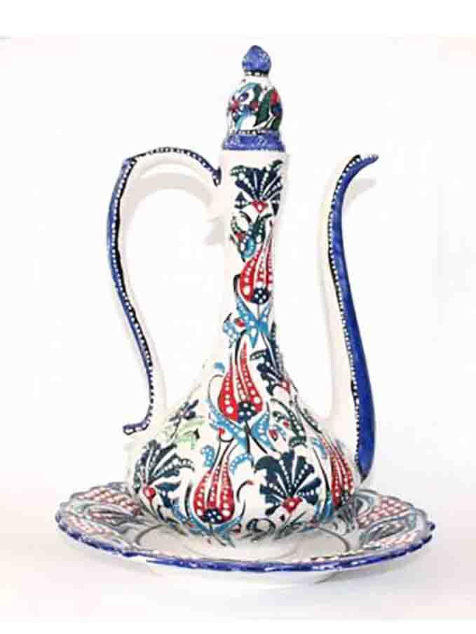 ceramic tile pitcher
