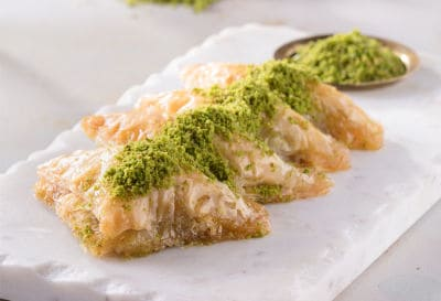 sobiyet baklava with pistachio
