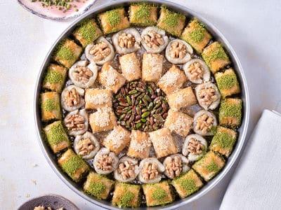 special pistachio walnut baklava