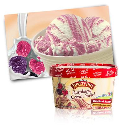 Turkey Hill Dairy Raspberry Cream Swirl
