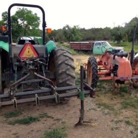the tractors, set for ciltivating