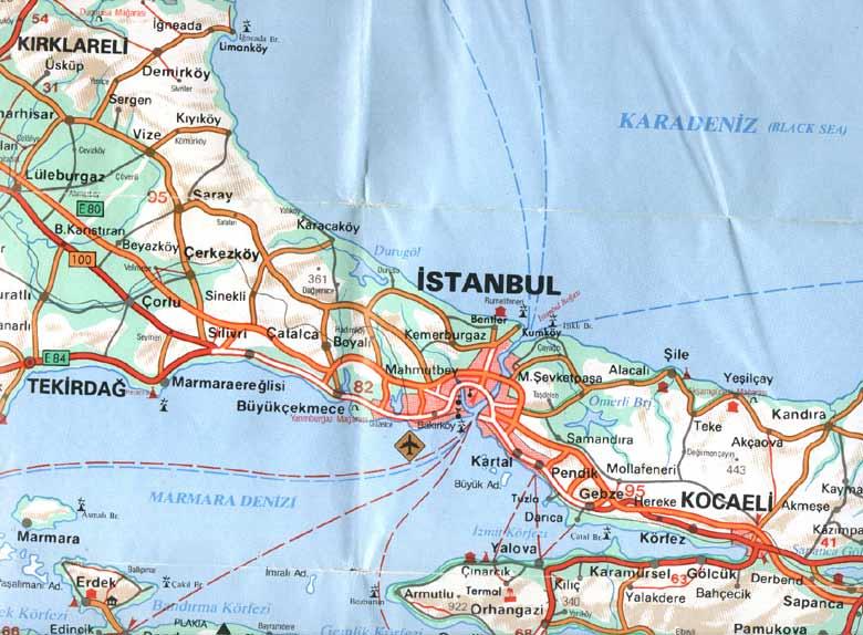 خريطة-اسطنبول-تركيا