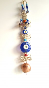 Turkish Evil Eye Handmade Wall Decoration with Bell ...