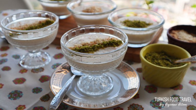 "Ottoman Turkish Recipe ""Keshkul"" – Almond Pudding"