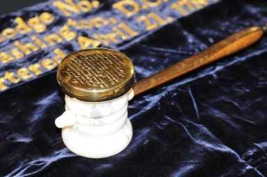 ABD'nin ilk başkanı George Washington'a ait o tokmak