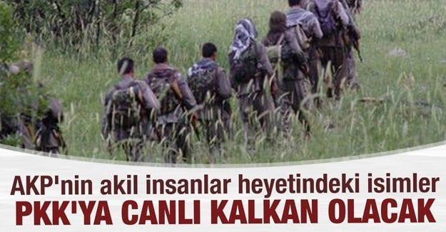 AKP'nin (S)-akil insanlar heyetindeki isimler PKK'ya canlı kalkan olacak
