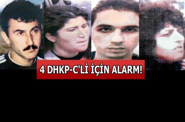 DHKP-C DOSYASI : 4 DHKP-C'li terörist için alarm !!