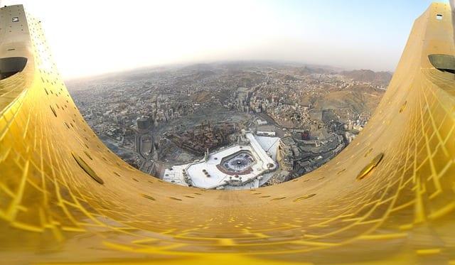 Mekke'nin yukarıdan panoramik görünüşü, Suudi Arabistan
