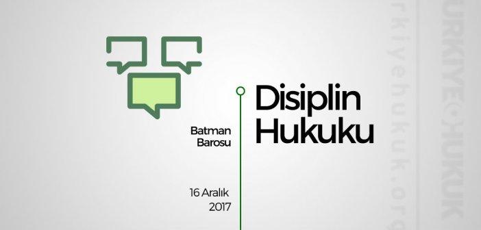 Seminer: Disiplin Hukuku
