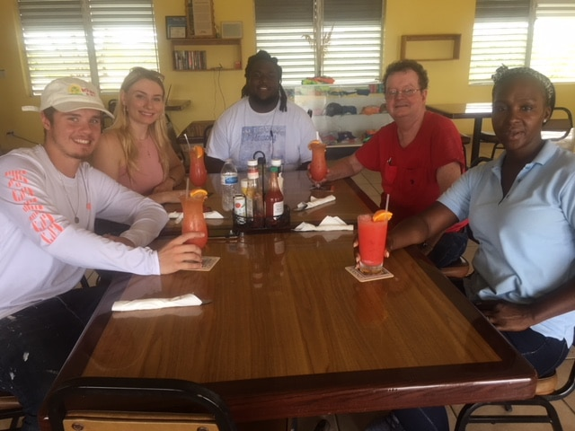 Hanging out at Miss B's on North Caicos