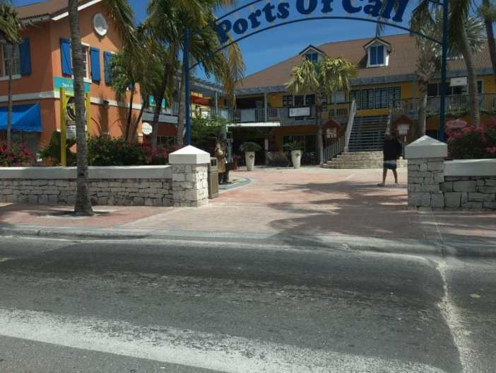 Ports of Call shopping area on Provo, Turks and Caicos