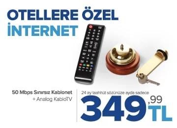 kablonet otellere özel internet kampanyası