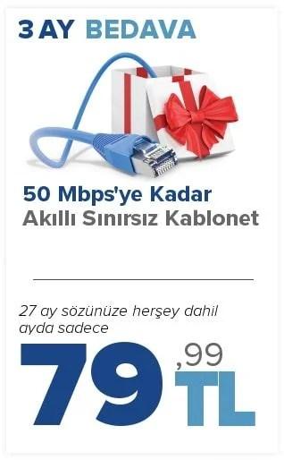 kablonet 3 ay bedava kampanyası