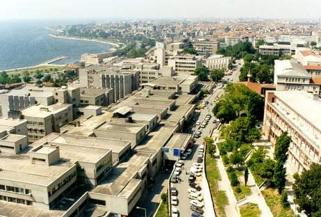 صورة جوية لجامعة إسطنبول جراح باشا