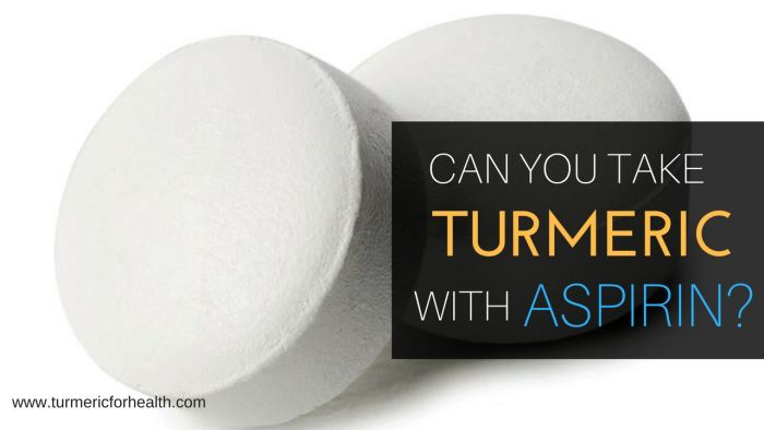 Can You Safely Take Turmeric / Curcumin with Aspirin?