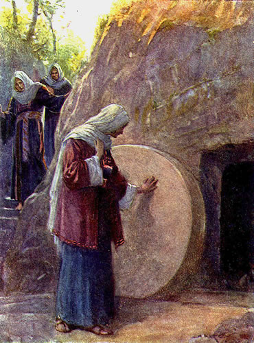 Image result for mary at the tomb of jesus, art, pictures