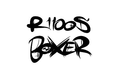 2x Boxer 2x R1100S Graffiti Style stickers Decals