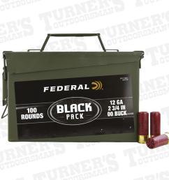 federal 12 gauge 2 3 4 00 buck 100 rounds bulk ammo can item bf127 00ac1 [ 1000 x 1000 Pixel ]