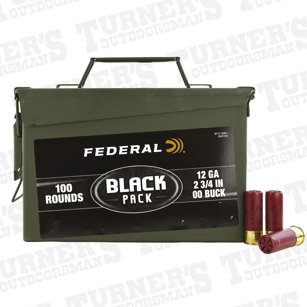 medium resolution of federal 12 gauge 2 3 4 00 buck 100 rounds bulk ammo can item bf127 00ac1