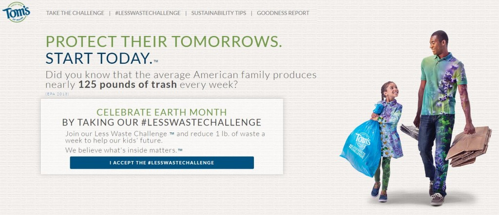 Toms of Maine Less Waste Challenge