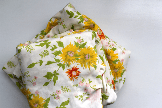 Folded Floral Sheets