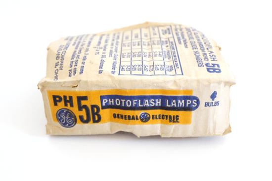 vintage photoflash lamps