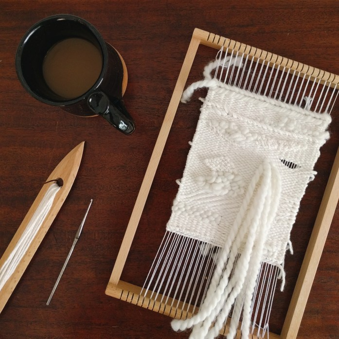 weaving lap loom textile art