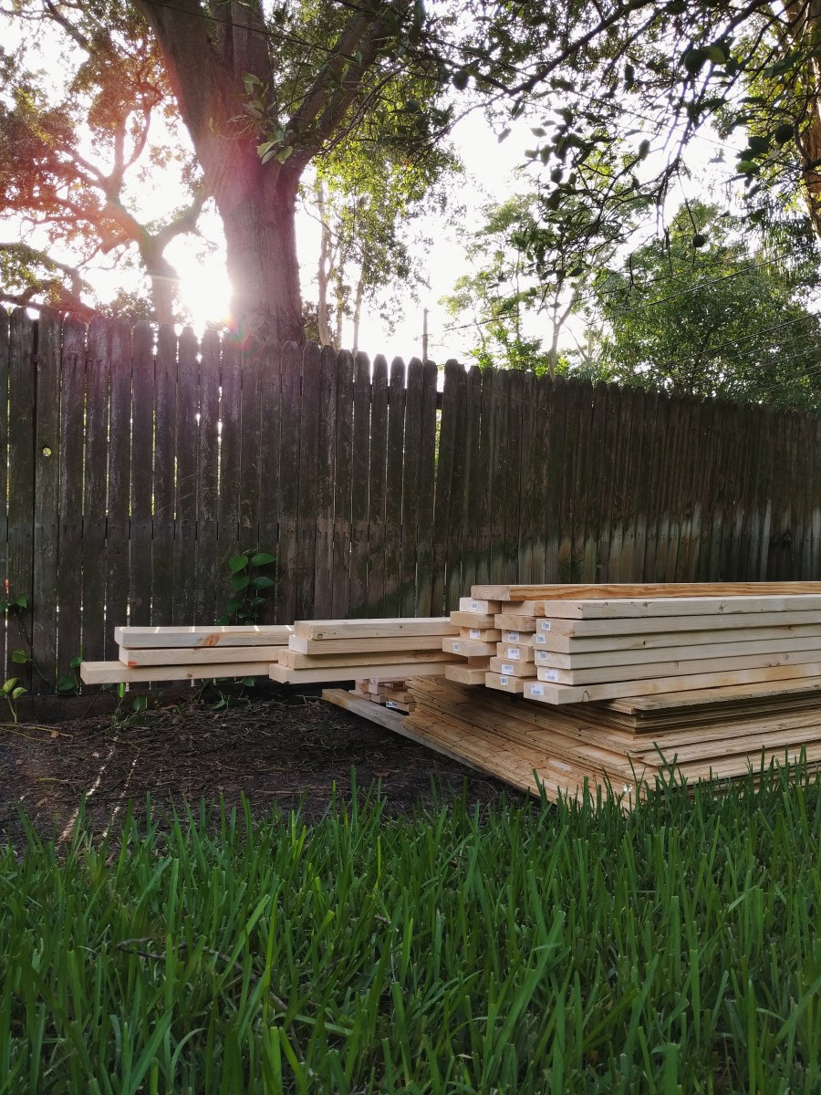 Lumber for Shed