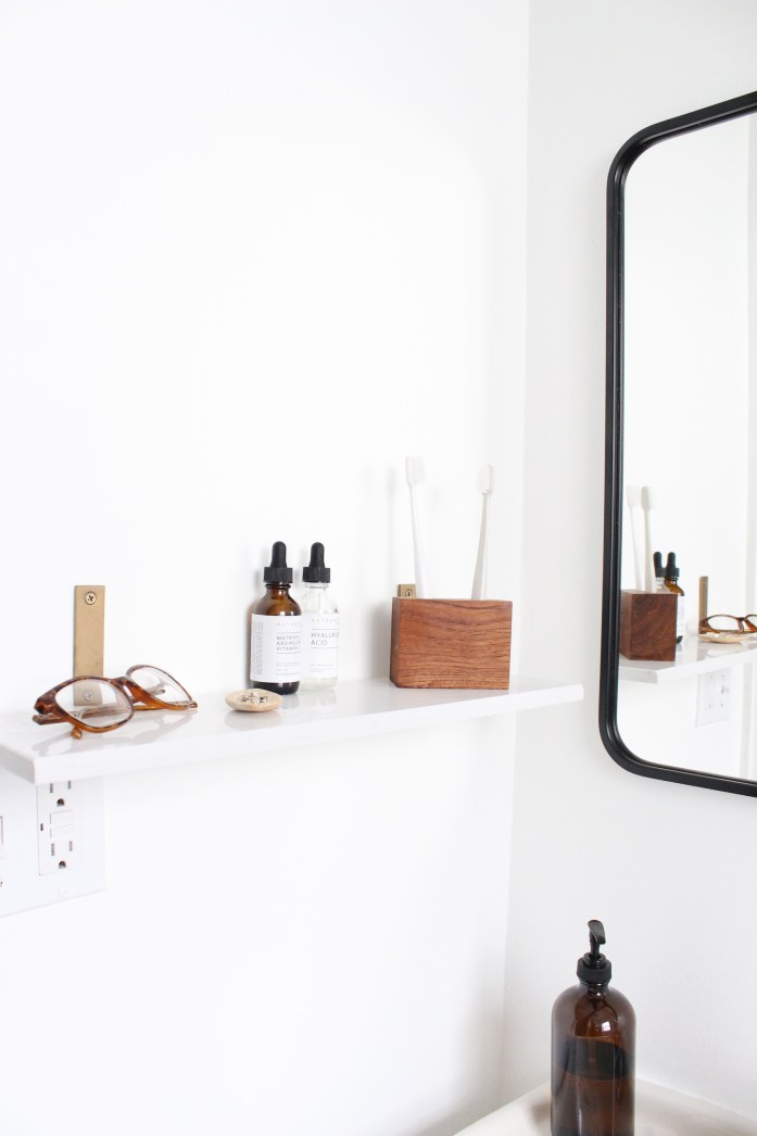 bathroom marble shelf
