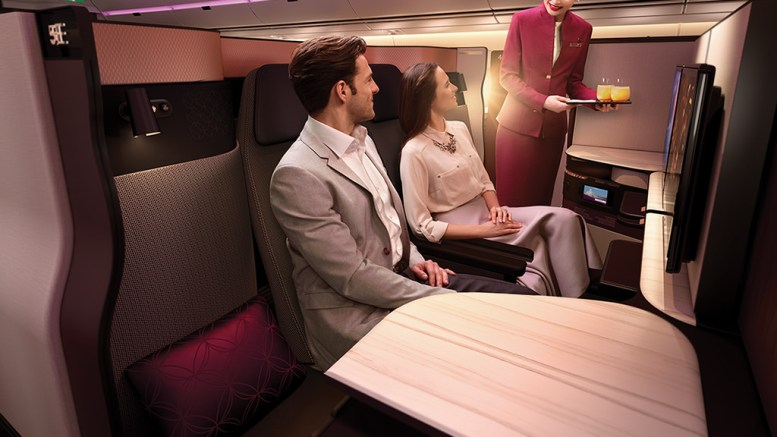 Qatar airways business class suite
