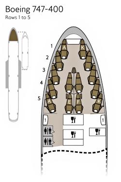 BA First B747 seat map