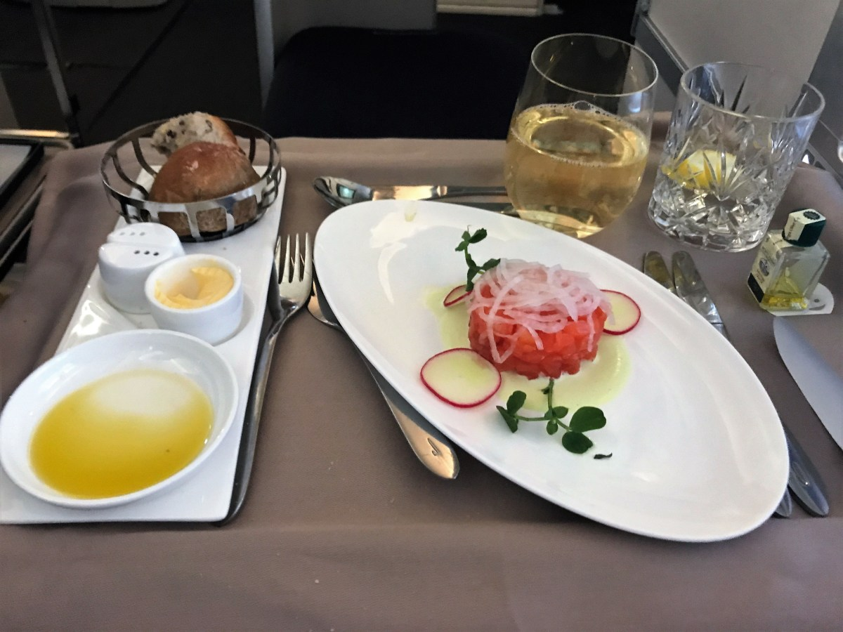 BA new Club World catering review LHR-JFK B747 - is BA back in the game?