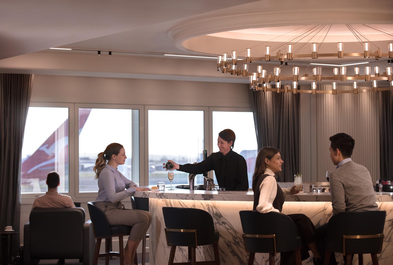 Qantas new lounge london heathorw terminal 3