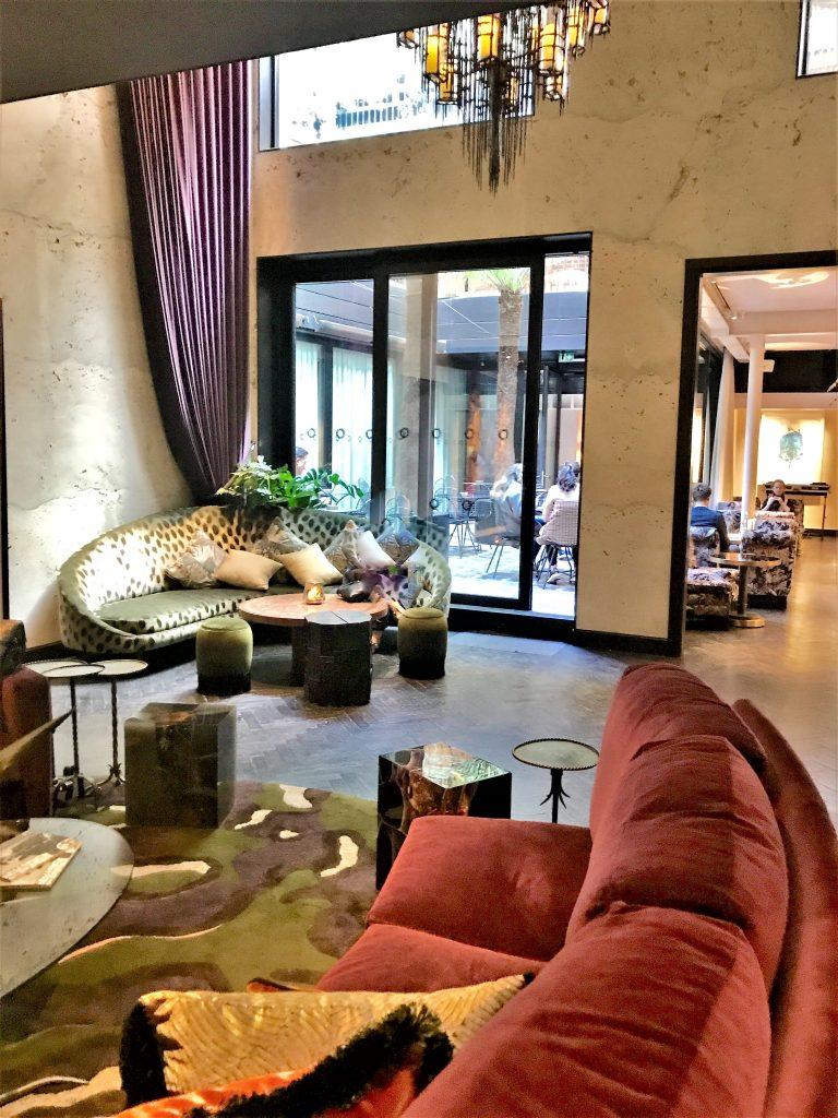 The Mandrake, Fitzrovia London review lobby area