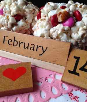 Valentine Popcorn Balls or Bars
