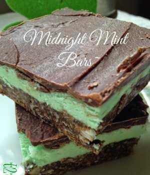 Midnight Mint Nanaimo Bars
