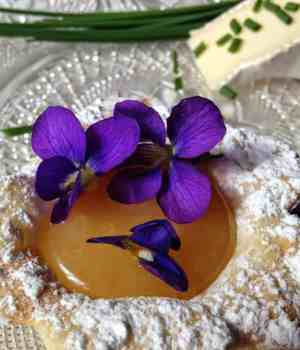 Garnishing with Edible Flowers and Brie with Honey