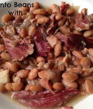 Pinto Beans with Smoked Ham Hocks Slow Cooker