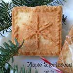 Maple Shortbread with Maple Glaze