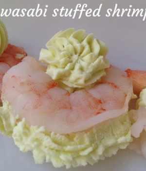 Wasabi Stuffed Shrimp