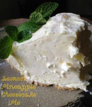 Lemon Pineapple Cheesecake Pie
