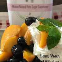 Warm Peach Blueberry Shortcake