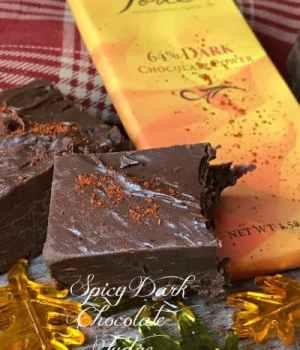 Spicy Dark Chocolate Fudge #Choctoberfest