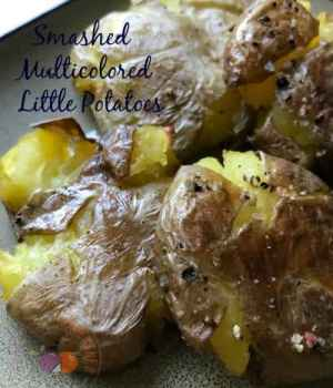 Smashed Multicolored Little Potatoes