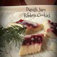Danish Jam Ribbon Cookies