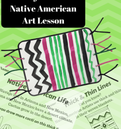 Thick \u0026 Thin Lines – Native American Blanket Art Lesson – PDF – Turn This  Into That [ 1056 x 816 Pixel ]