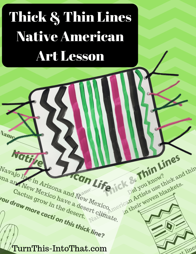 hight resolution of Thick \u0026 Thin Lines – Native American Blanket Art Lesson – PDF – Turn This  Into That